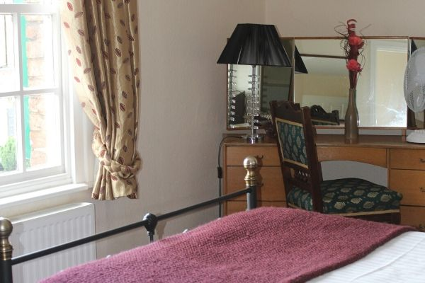 Ensuite bedroom available at hotel in Welshpool, Mid Wales.